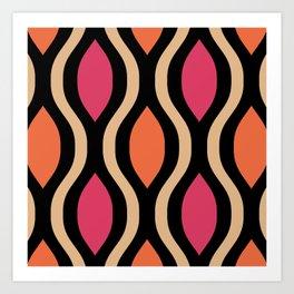 Pretty Ogee Pattern 354 Art Print