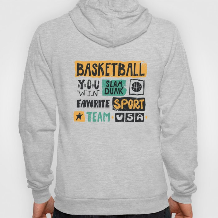 Basketball sketch. Pattern. Hoody