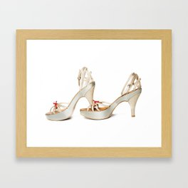 hight  hills shoes Framed Art Print