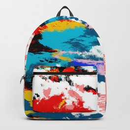 Abstract Colorful Retro Art Tie-Dye Pattern - Hissu Backpack