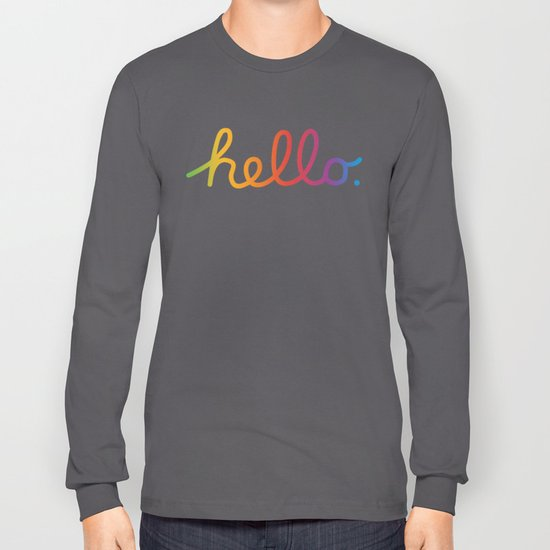 a871bc573 Hello — A tribute to Apple Long Sleeve T-shirt by darthnicklas | Society6