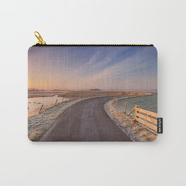 I - Typical Dutch landscape with a dike, in winter at sunrise Carry-All Pouch