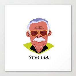 Stan Lee. Canvas Print