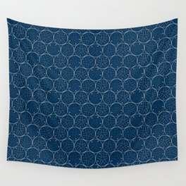 Sanddollar Pattern in Blue Wall Tapestry