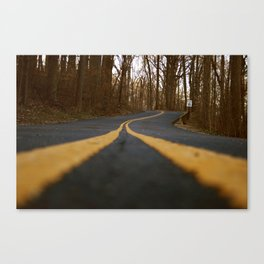 Double Yellow Lines Canvas Print