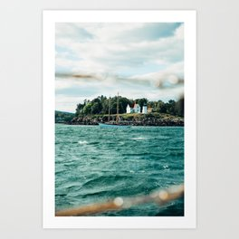 Sailing Past Curtis Lighthouse Art Print
