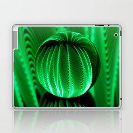 Green waves in glass ball Laptop & iPad Skin