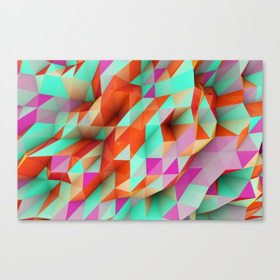 Polygons Sphere Abstract Canvas Print