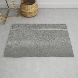 Crinkled Silver Foil Texture Christmas/ Holiday Rug
