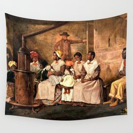 "Classical Masterpiece: Eyre Crowe's ""Slaves Waiting for Sale"" (1861) Wall Tapestry"