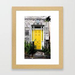 Yellow Door. Framed Art Print