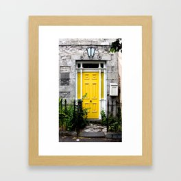 Yellow Door. Framed Art Print