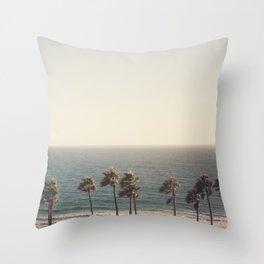 Golden Hour over Pacific Coast Highway Throw Pillow