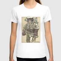 saxophone T-shirts featuring Space Cat with Saxophone by Felis Simha
