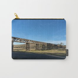 old railway bridge crossing Murrumbidgee River Gundagai New South Wales. Carry-All Pouch