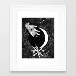 Waxing Crescent Framed Art Print