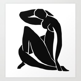 Matisse Cut Out Figure #2 Black Art Print