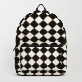 Geometric ornament gold seamless pattern Backpack
