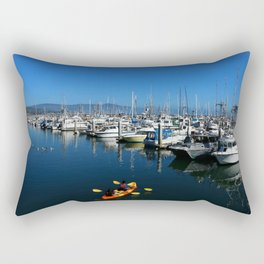 Pillar Piont Harbor at Half Moon Bay Rectangular Pillow