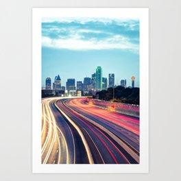 Downtown Dallas Texas Skyline Drive Art Print