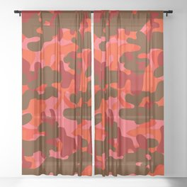 Camouflage (Red) Sheer Curtain
