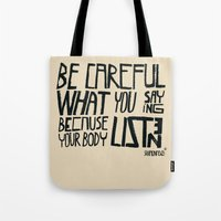 body Tote Bags featuring body by smaomao