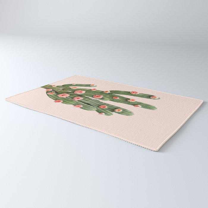 CACTUS AND ROSES Rug