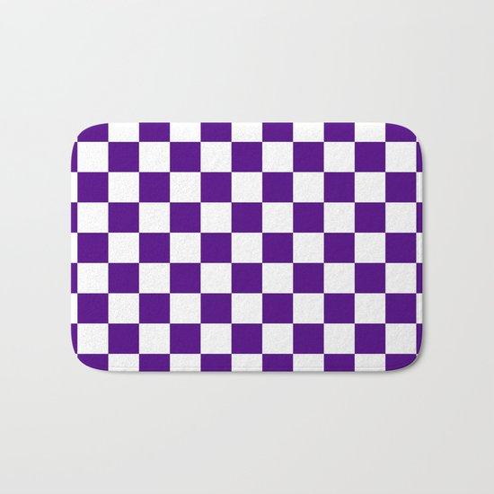 Checker (Indigo/White) Bath Mat