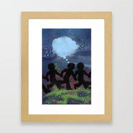 Boys Ban Together Framed Art Print