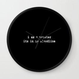 Bloodline Wall Clock