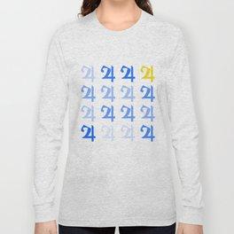Jupiter's Square (Navy) Long Sleeve T-shirt