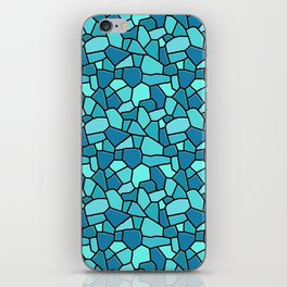 Stained Glass Blue iPhone Skin