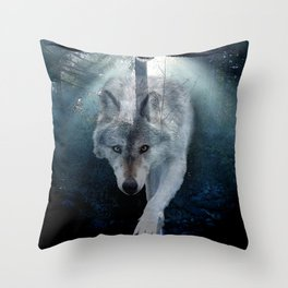 The Gathering - Wolf and Eagle Throw Pillow