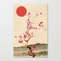 sakura Canvas Prints featuring Sakura by Ned & Ems