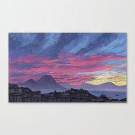 Sunrise behind Vesuvius, New Year Canvas Print