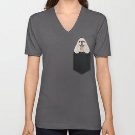 Harper - Cocker Spaniel phone case gifts for dog people dog lovers presents Unisex V-Neck