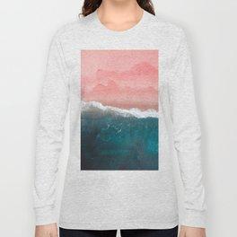 Turquoise Sea Pastel Beach II Long Sleeve T-shirt