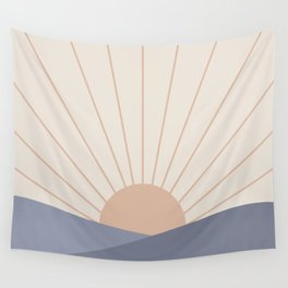 Morning Light - Blue Wall Tapestry