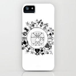 Kinky Kitty Mandala iPhone Case