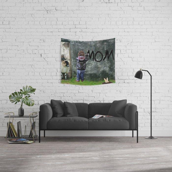 Mom by GEN Z Wall Tapestry