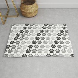 Paw Prints Pattern Rug