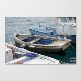 little fishing boats Canvas Print