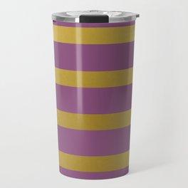 Baesic Gold & Purple Texture Shine Travel Mug
