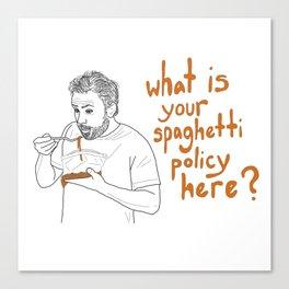 Charlie Kelly - Spaghetti Policy Canvas Print