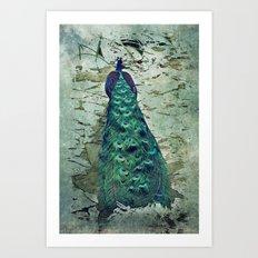 Peacock Dream Art Print