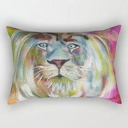 White Lion Rectangular Pillow