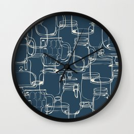 glass containers Wall Clock