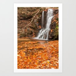 Orange Grove Waterfall Art Print