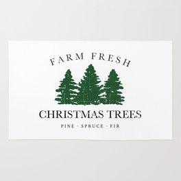 Farm Fresh Christmas Trees Rug