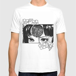 Junji Ito with cherry blossoms T-shirt